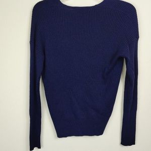 Elodie Sweaters - Elodie | NWOT Navy Crossover V-neck Sweater